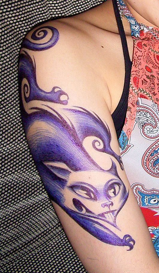 Picture Of Ballpoint Body Art