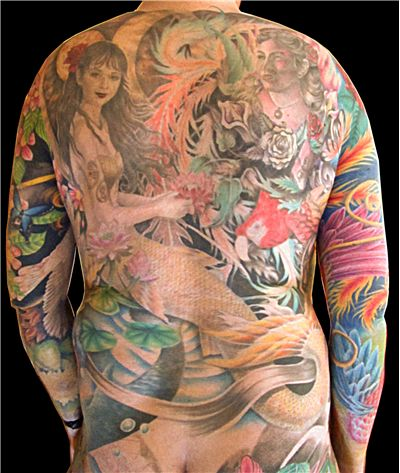 Picture Of Full Body Suit Tattooed