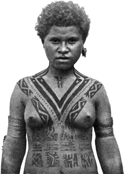 Picture Of Koita Women Of Papua New Guinea Traditional Tattooing