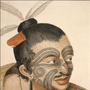 Picture Of Maori Chief With Moko Tattoo 1784