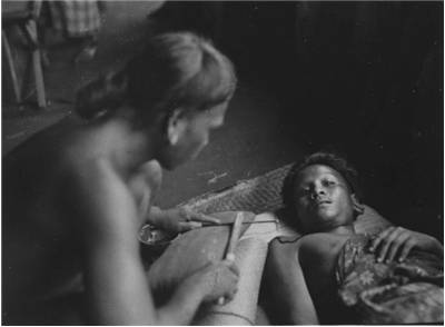 Picture Of Traditional Tattooing Among The Dayak People