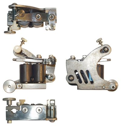 Picture Of Traditional Two Coil Tattoo Machine